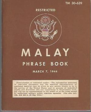 Malay Phrase Book, Restricted --TM 30-639