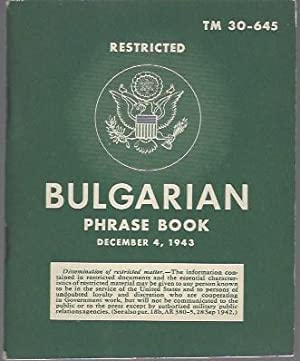Bulgarian Phrase Book Restricted TM 30-645