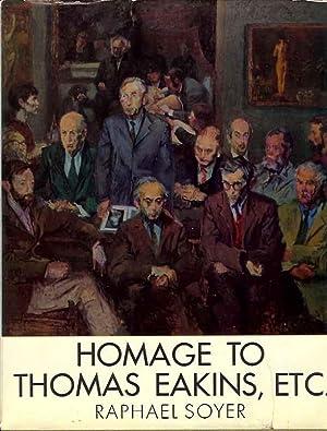 Homage to Thomas Eakins, Etc. (Signed): Soyer, Raphael