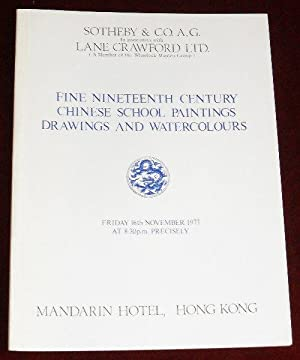 Catalogue of Fine Nineteenth Century Chinese School Paintings, Drawings and Watercolours - Sale on ...