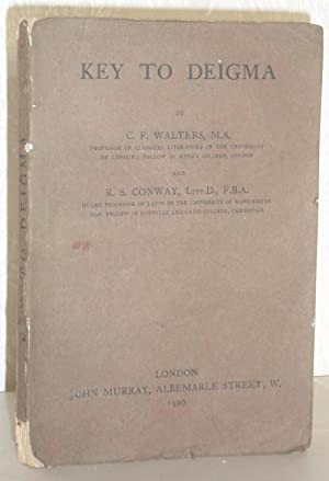 Key to Deigma: C F Walters and R S Conway
