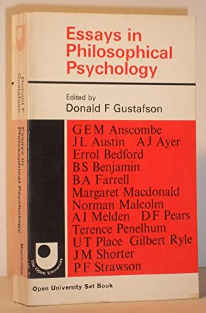 Essays in Philosophical Psychology: Donald F Gustafson