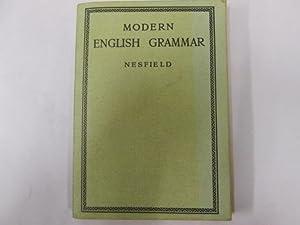 MODERN ENGLISH GRAMMAR: J.C. Nesfield