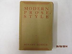 Modern Prose Style: Bonamy Dobree