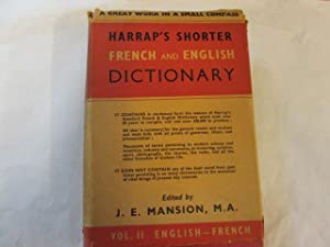 FIRST EDITION* HARRAP'S SHORTER FRENCH ENGLISH DICTIONARY