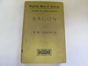 Bacon; Bunyan & Bentley - English Men of Letters: Church, R. W; Froude, J. A. & Jebb, R. C.