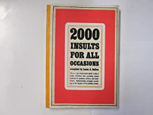 2000 Insults for all Occasions: Safian, Louis