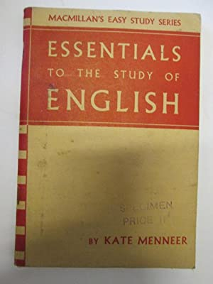Essentials to the Study of English (Macmillan's easy study series): Kate Menneer
