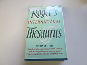 Roget's International Thesaurus: Third edition: Various