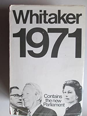 Whitakers 1971: Joseph Whitaker Fsa