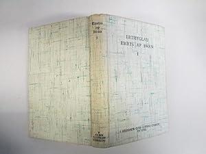 DETHOLIAD O ERTHYGLAU A LLYTHYRAU EMRYS AP IWAN. EDITED BY DAVID MYRDDIN LLOYD. WITH A PORTRAIT: ...