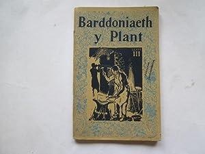 Barddoniaeth y Plant, Llyfr III: unk,