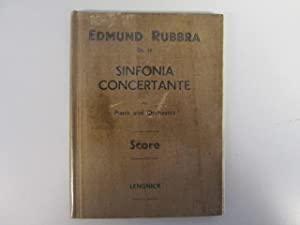 Sinfonia concertante for Piano and Orchestra. Score: Rubbra, Charles Edmund
