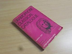 Gramophone Classical Catalogue, March 1978: Calum MacDonald