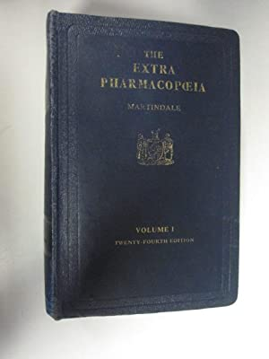 The Extra Pharmacopoeia.volume 1. Twnery-Fourth Edition, 1958.: Martindale