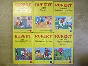 Set of 6 Rupert Little Bear Library: Mary Tourtel