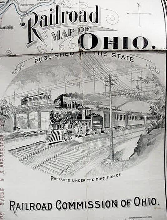 1910 / Railroad / Map Of / Ohio / Published ... Large Print Map Of Ohio on map of of ohio, large maps of ohio with rivers, travel map of ohio, business map of ohio, general map of ohio, printable road map of ohio, transportation map of ohio, military map of ohio, reference map of ohio,