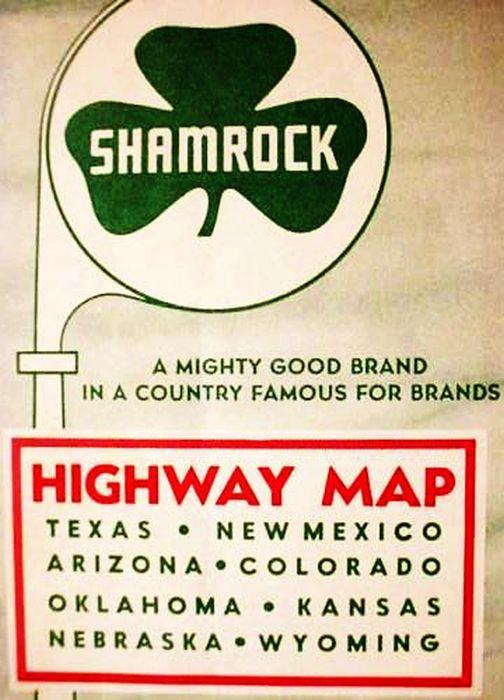 Map Of Texas New Mexico And Colorado.Shamrock A Mighty Good Brand In A