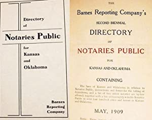 Directory Of Notaries Public / For Kansas And Oklahoma [cover] The Barnes Company's ...