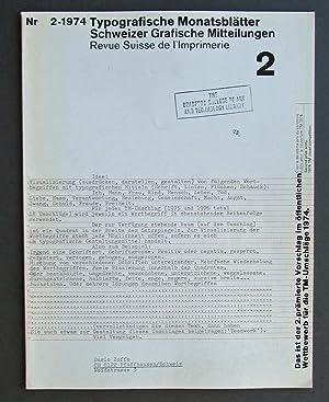 TM SGM RSI - Typografische Monatsblatter /: Roger Chatelain, Jan