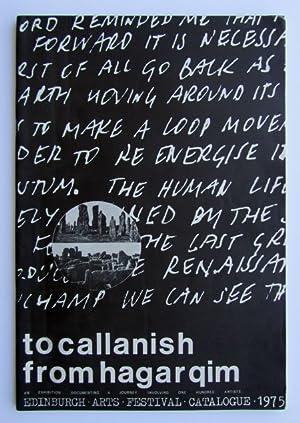 To Callanish from Hagarqim - An exhibition: Richard Demarco (Ed)