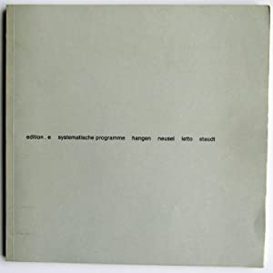 Systematische programme: Heijo Hangen; Arnulf Letto; Gunter Neusel; Klaus Staudt