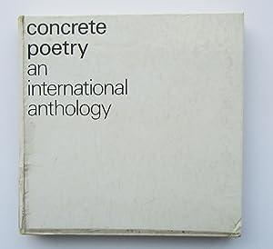 concrete poetry: an international anthology: Stephen Bann (editor);
