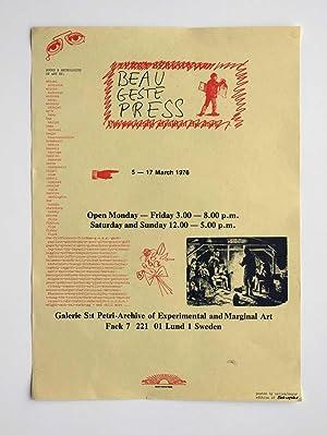 Beau Geste Press Poster: David Mayor, Sellem,
