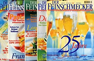 Der Feinschmecker. Das internationale Gourmet-Journal. Heft 5, 8, 9, 11 und Heft 12/2000.
