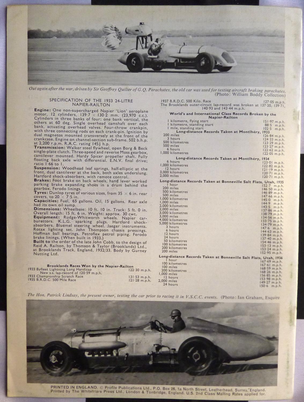 The 1933 24-litre Napier-Railton (Profile Publications 28) by Boddy ...