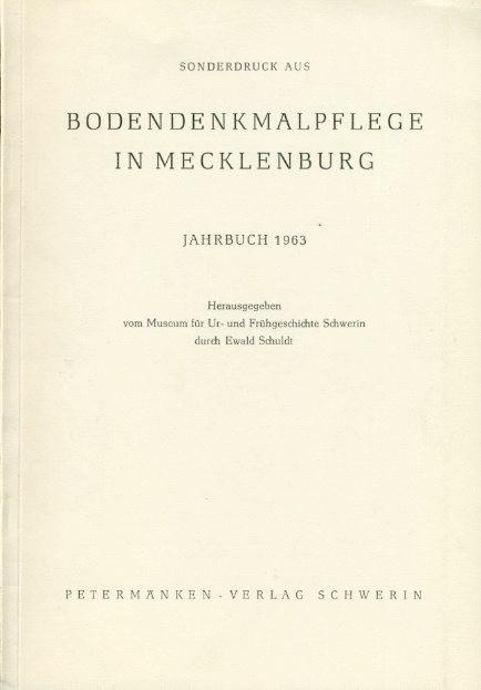 """Die Ausgrabungen im Gebiet der  Alten Burg"""": Schuldt, Ewald:"""