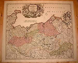 Ducatus Meklenburgici Tabula Generalis continens Duc. Vandaliae: Homann, Johann Baptist: