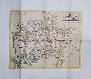 Karte. Fürstentum Ratzeburg. Aus dem Mecklenburg-Atlas des Bertram Christian von Hoinckhusen (...
