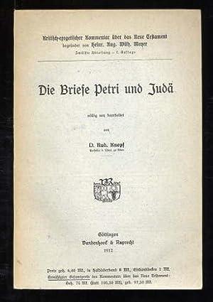 Die Briefe Petri und Judä. Kritisch-eregetischer Kommentar: Knopf, Rud.: