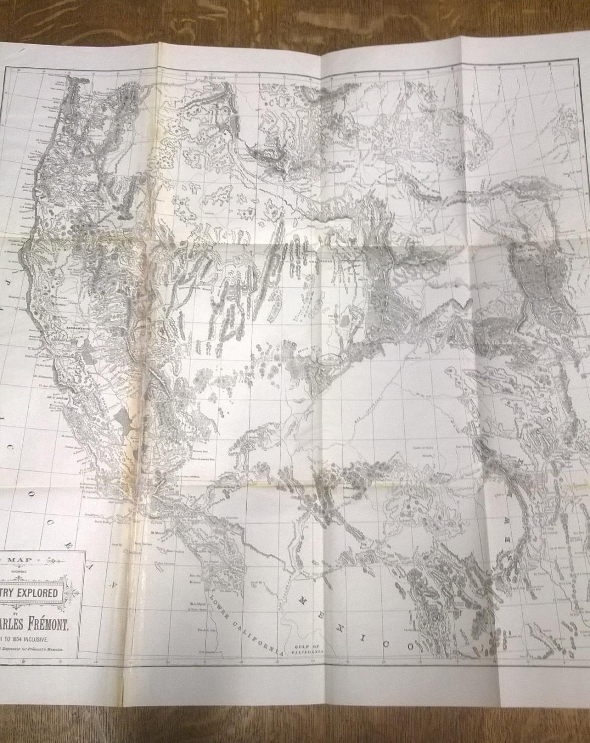Map showing country explored by john charles fremont 1841 1854 map showing country explored by john charles fremont 1841 1854 inclusive excised from memoirs gumiabroncs Gallery