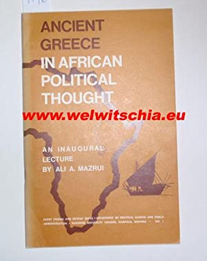 Ancient Greece in African Political Thought. An Inaugural Lecture.