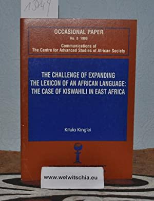 The challenge of expanding the lexicon of an African language : the case of Kiswahili in East Afr...