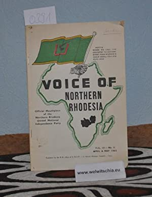 Voice of Northern Rhodesia : official mouthpiece of the Northern Rhodesia United National Indepen...