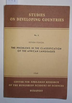 The problems in the classification of the African languages. Methodological and theoretical concl...