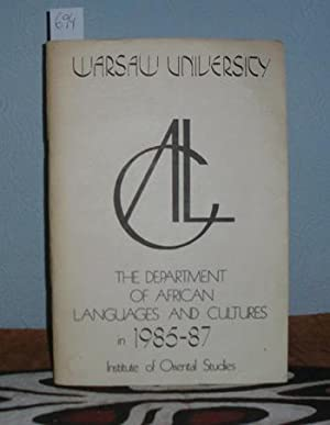 The department of African Languages and Cultures in 1985 - 1987.