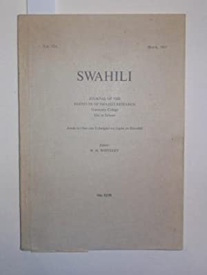 Swahili. Journal of the Institute of Swahili Research. Vol. 37 / 1, September 1967.