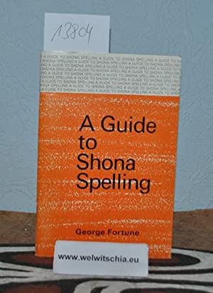 A guide to Shona spelling.