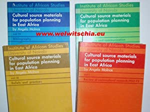 Cultural source materials for population planning in East Africa. 4 Bände (komplett).