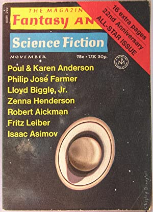 The Magazine of Fantasy and Science Fiction ~ Vol. 41 #5 November 1971