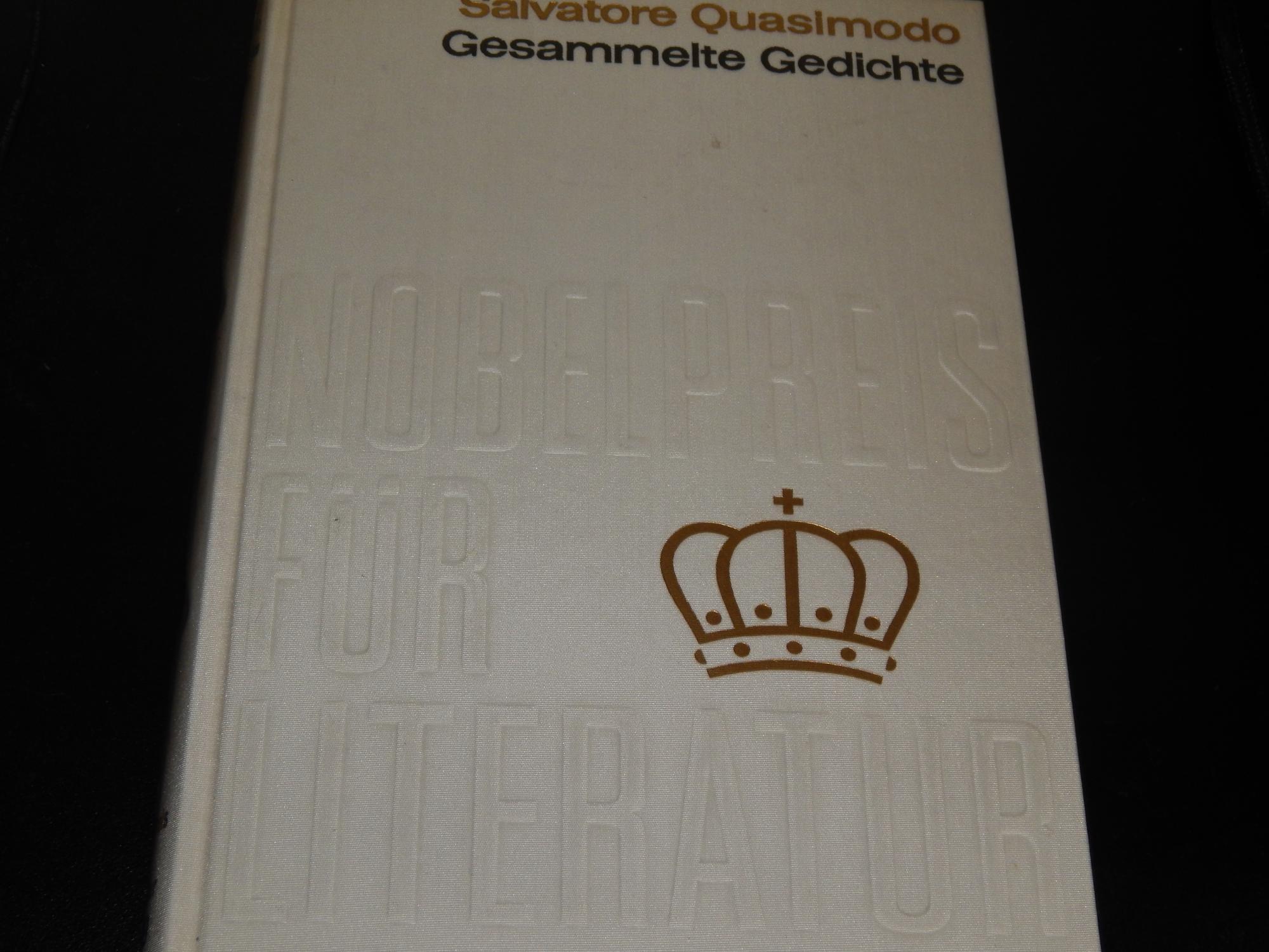 Gesammelte Gedichte Nobelpreis 1959 Italien: Quasimodo, Salvatore