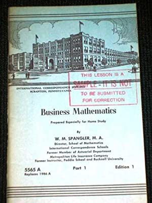 Business Mathematics, Part 1, Edition 1 - Pub 5565A