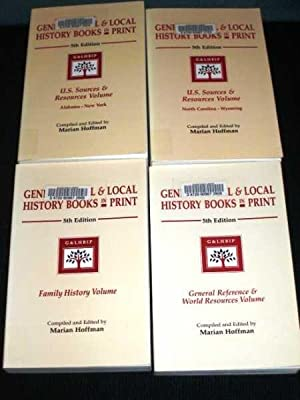 Genealogical and Local History Books in Print: U.S. Sources & Resources (4 Volume set): Hoffman...