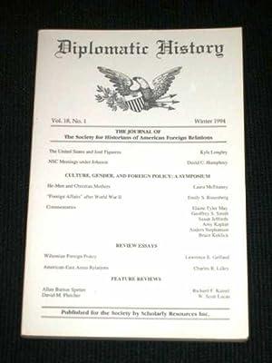 Diplomatic History - Vol 18, No 1: Various