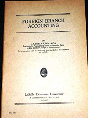 Foreign Branch Accounting