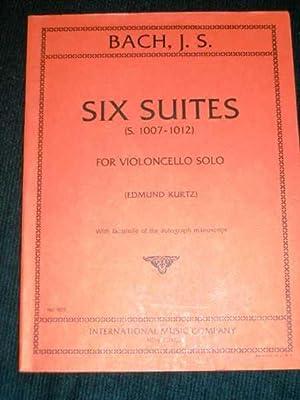 Six Suites (S. 1007-1012) for Violoncello Solo: Bach, Johann Sebastian;